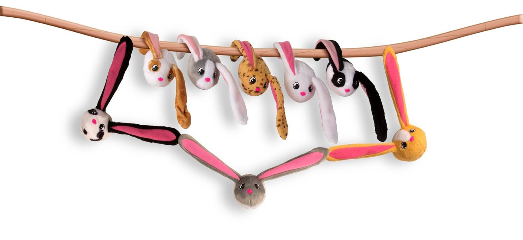 Мягкие игрушки ABtoys Мягкая игрушка Bunnies «Кролик» с магнитами 9,5 см в асс. imc toys мягкая игрушка bunnies цвет черный белый 20 см