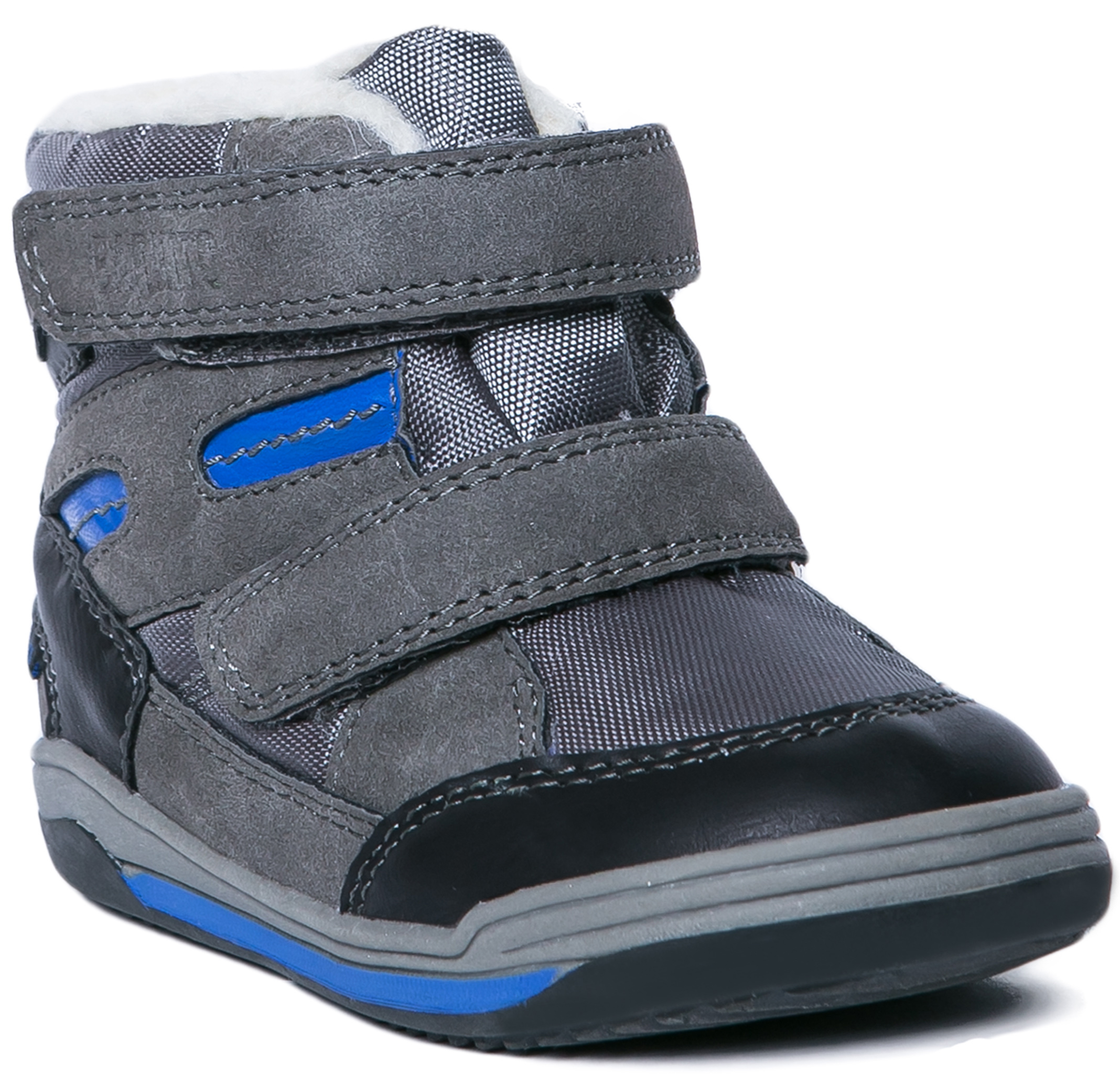 Ботинки  полуботинки Barkito  для мальчика , серые
