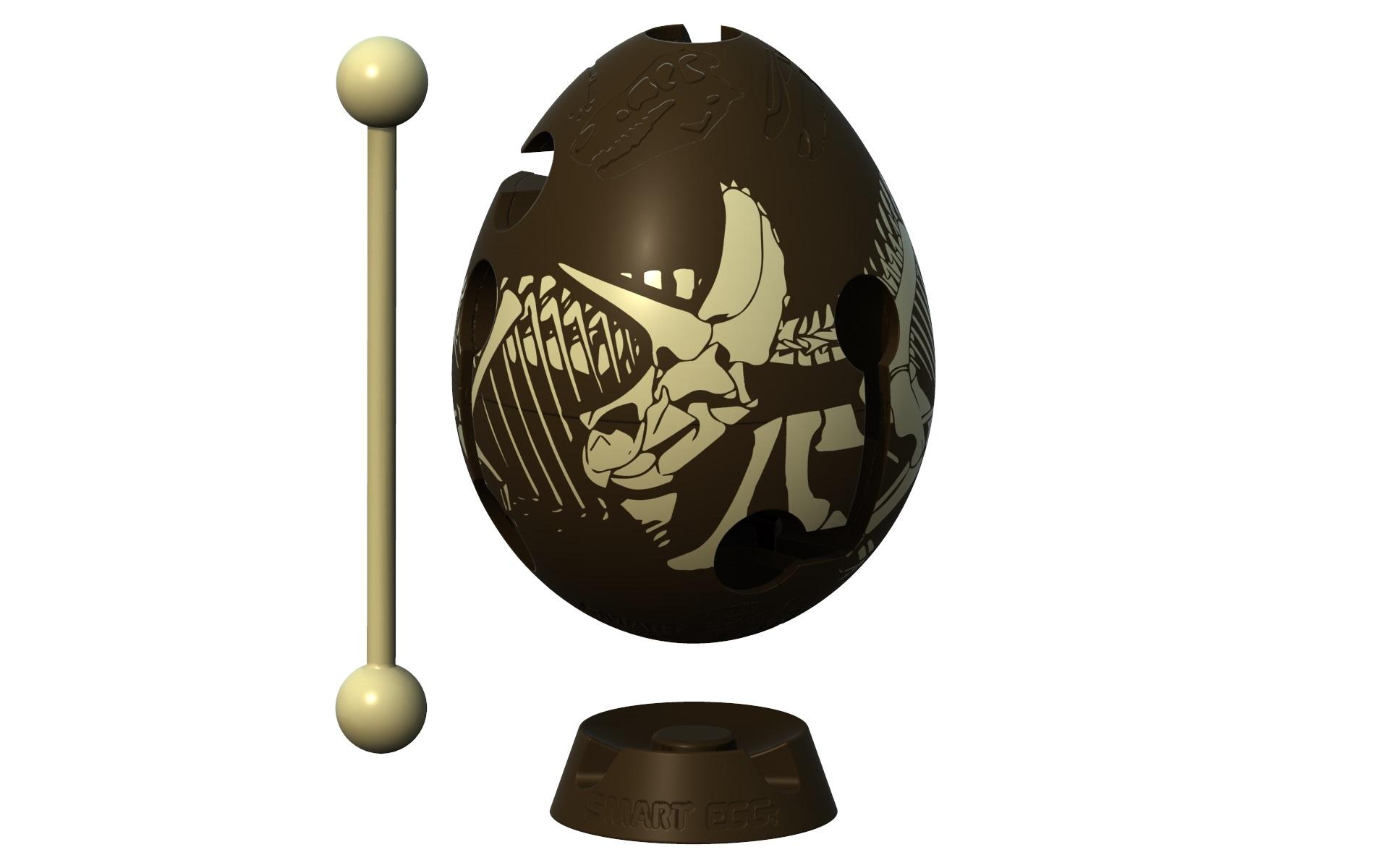 Головоломка Smart Egg Дино коричневый