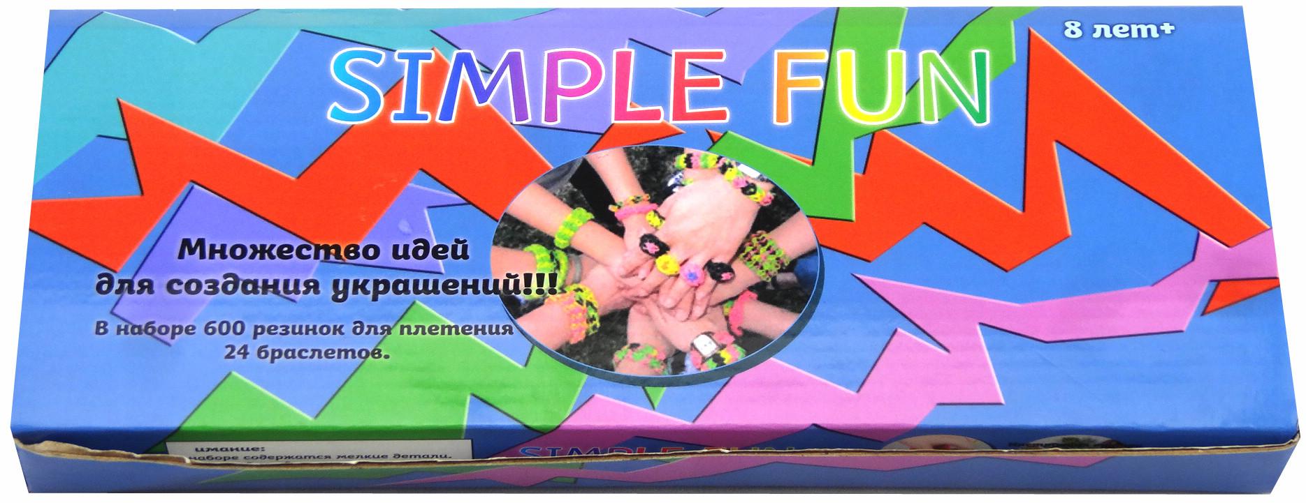 Украшения Simple Fun Набор для плетения браслетов Simple Fun «Loom» 600 шт. белоснежка набор для плетения из резинок фантазия 5250 шт