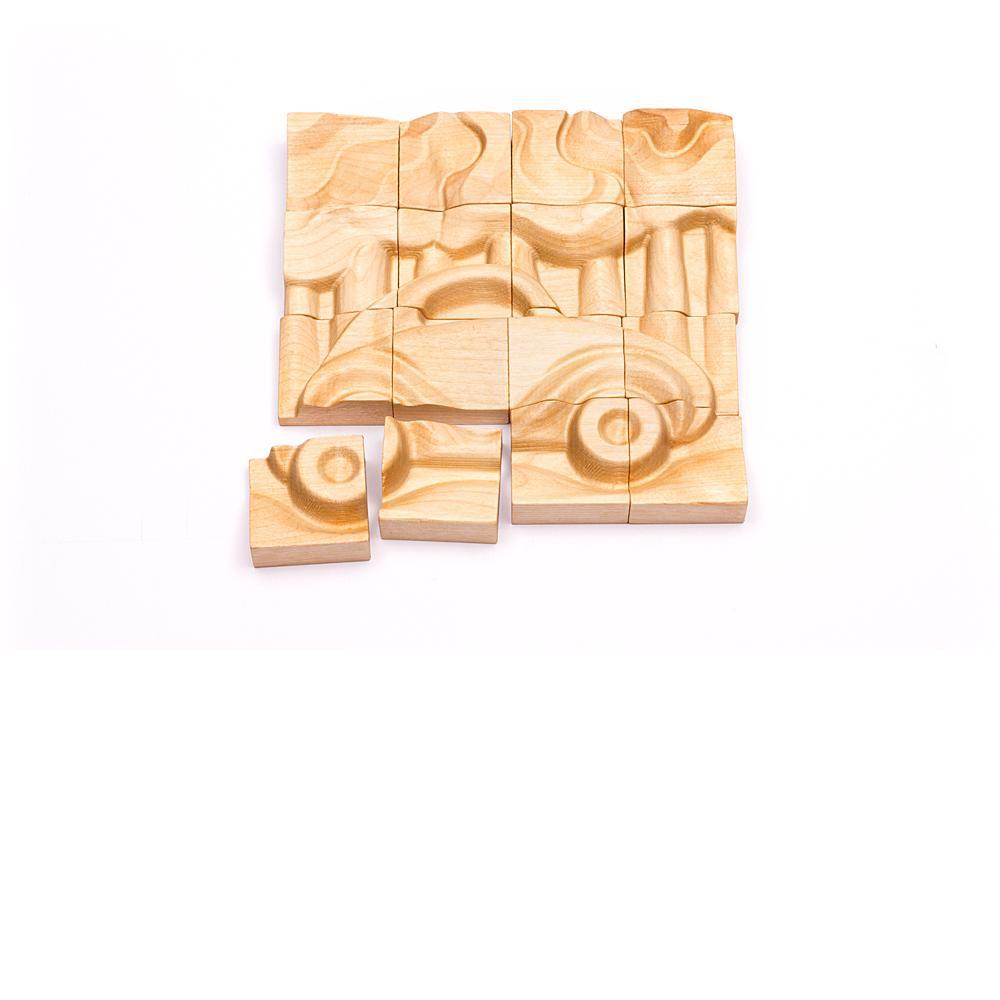 Деревянные игрушки Томик 16 дет. Транспорт объемныяе, деревянные томик пазлы объемные пароход 16д