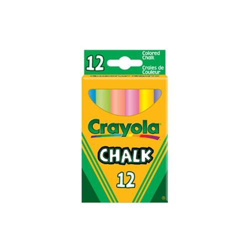 Мелки Crayola 12 цветов с пониженным выделением пыли набор мелков crayola 0280c