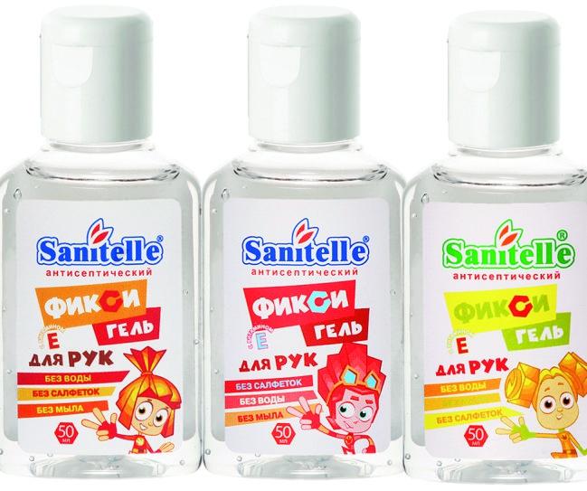 Гель для рук Sanitelle Гель для рук Sanitelle ФИКСИ-гель Cherry с витамином Е 50 мл