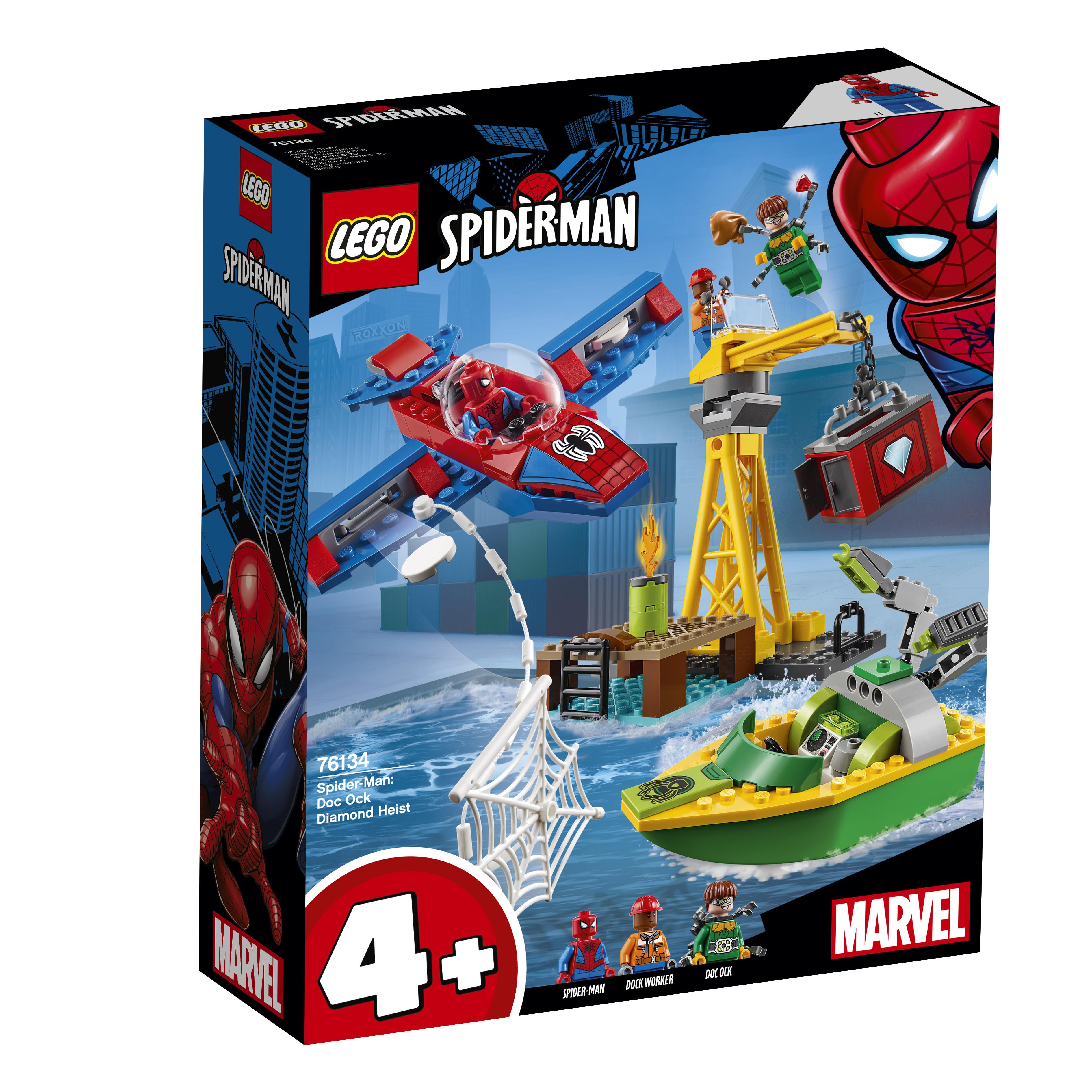 LEGO LEGO Super Heroes 76134 Человек-паук: похищение бриллиантов Доктором Осьминогом lego lego super heroes 76058 человек паук союз с призрачным гонщиком