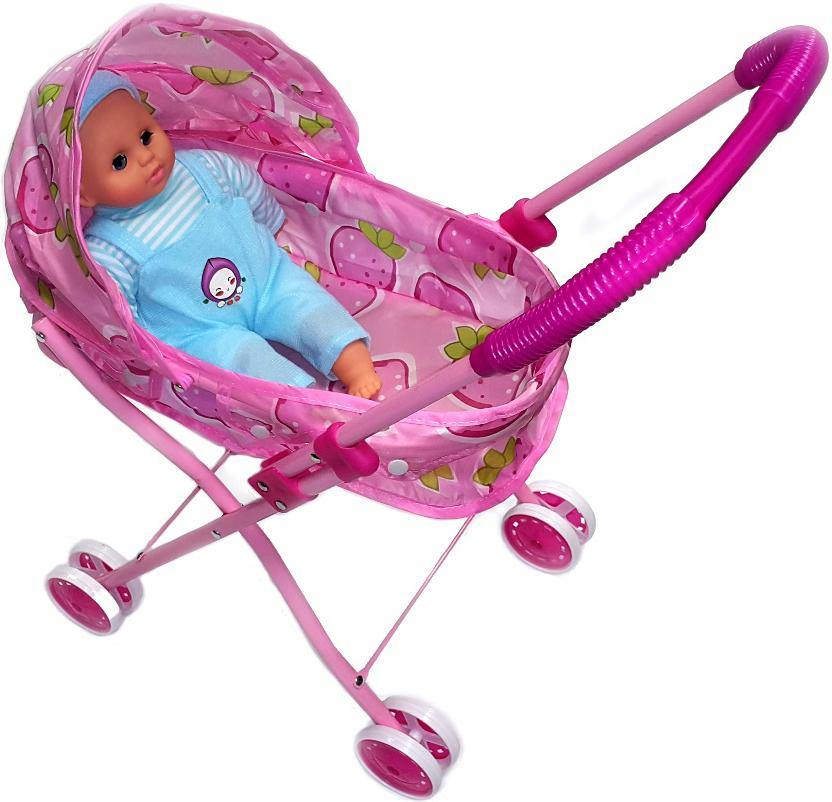 Игровой набор UF Коляска-люлька с куклой игровой набор с куклой коляска трость 2670011