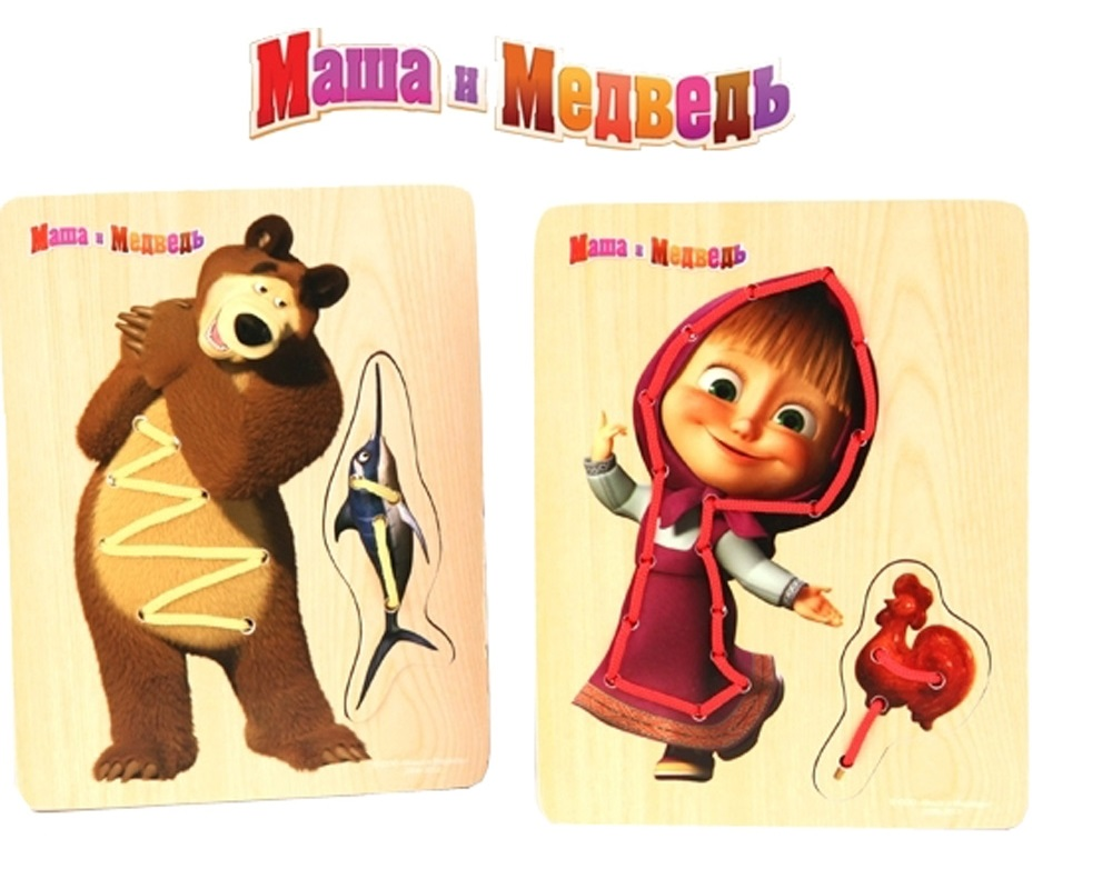 Шнуровки для малышей Маша и Медведь Маша и Медведь недорого