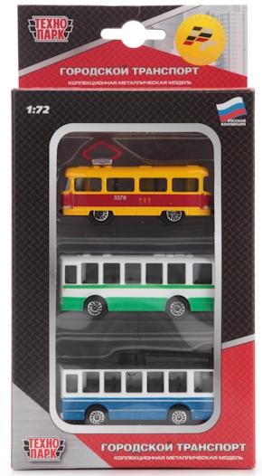 Городской транспорт Технопарк Игровой набор Технопарк «Городской транспорт» с 3 машинками 1:64 наушники вкладыши sennheiser cx 180 street ii