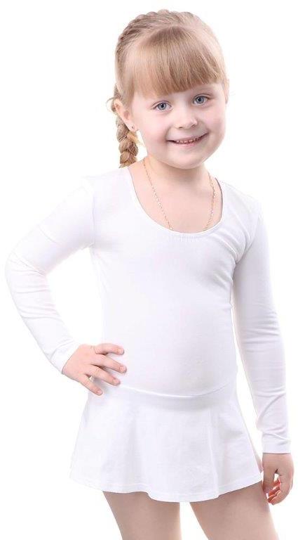 Купальники Свiтанак Комбидрес (гимнастический купальник) для девочки Свiтанак, белый купальники