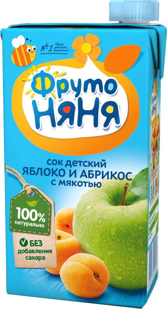 Сок Прогресс Фрутоняня Яблоко и абрикос с мякотью с 3 лет 500 мл сок фрутоняня яблоко и абрикос с мякотью с 3 лет 500 мл