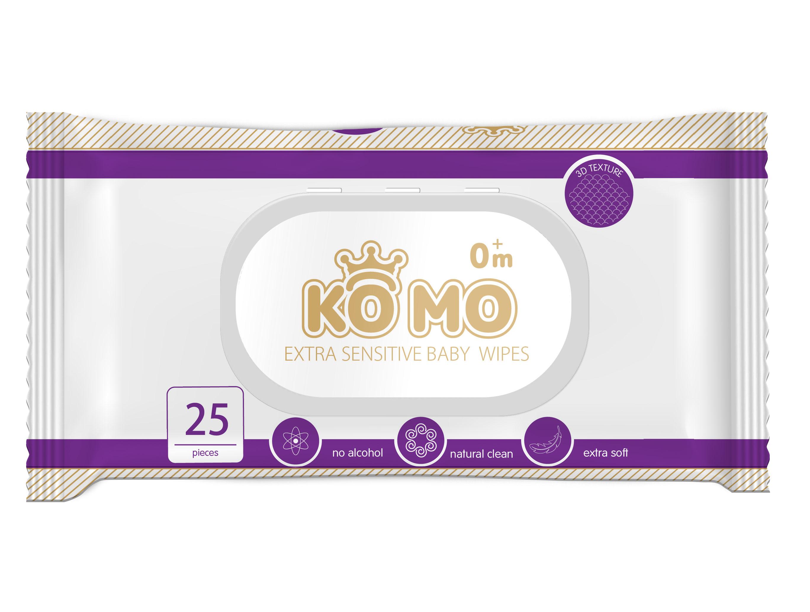 Влажные салфетки Ko Mo 25 шт