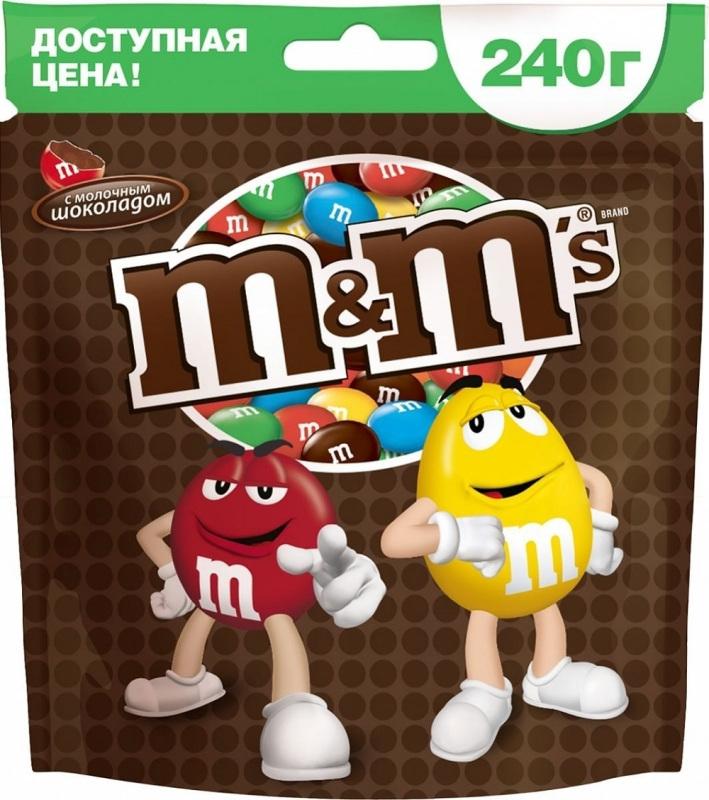 Драже M&M's M&M's с шоколадом 240 г драже m