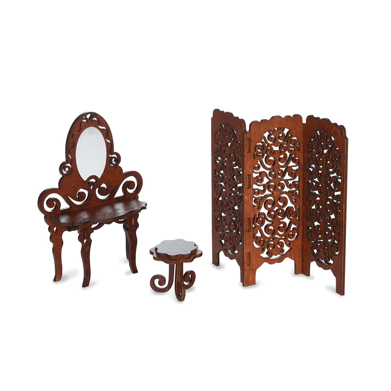 Мебель для кукол ЯиГрушка Набор мебели ЯиГрушка «Будуар» коричневый цена