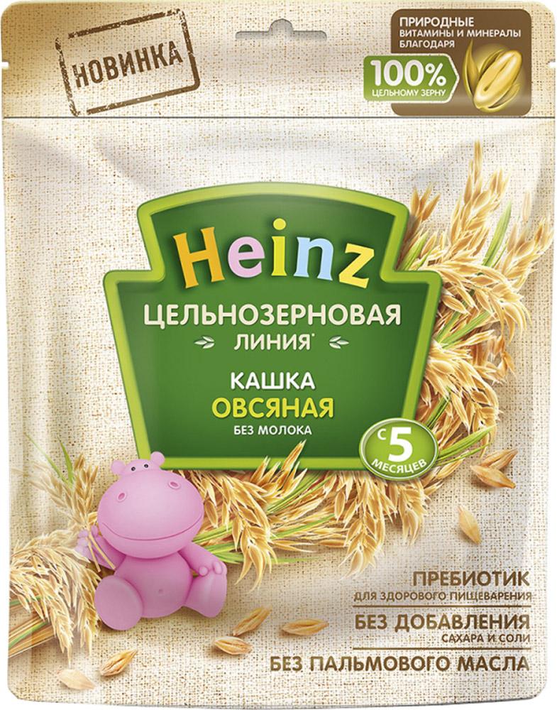 Каша Heinz Heinz безмолочная овсяная цельнозерновая с 5 мес. 180 г heinz каша лакомка овсяная яблочко черника чёрная смородина с 5 мес