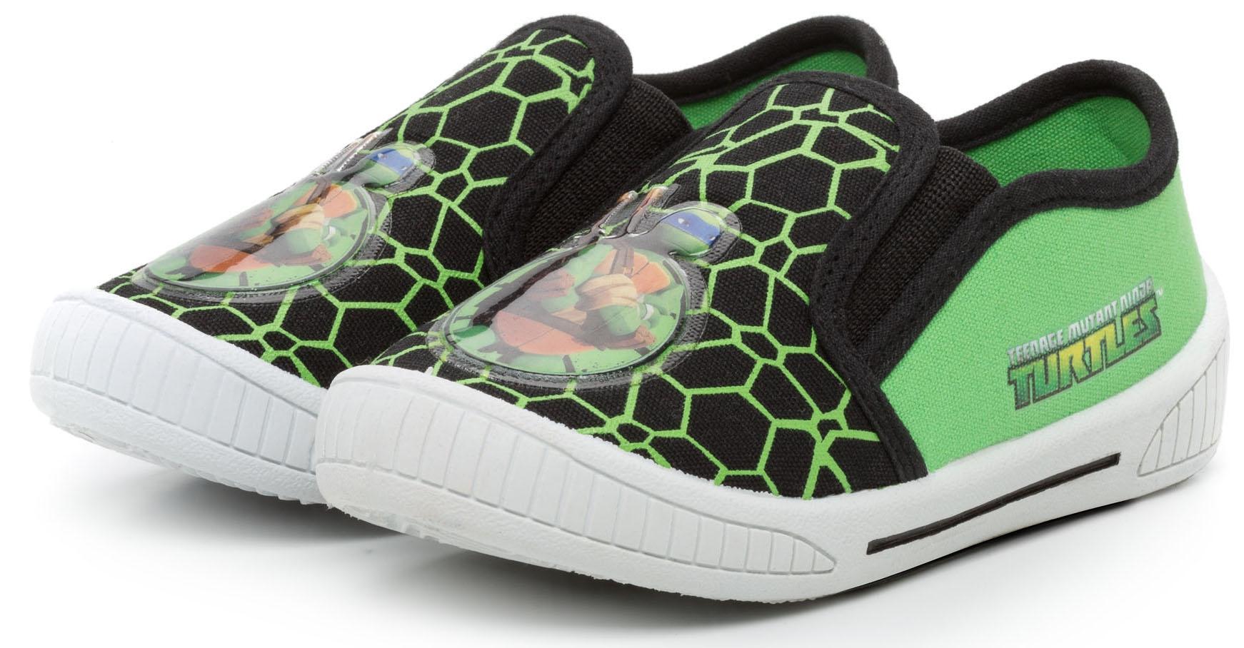 Кроссовки и кеды TM NINJA TURTLES Полуботинки типа кроссовых для мальчика Tm Ninja Turtles, черно-зеленые машины turtles машинка черепашки ниндзя 7 см шредер на шредеромобиле