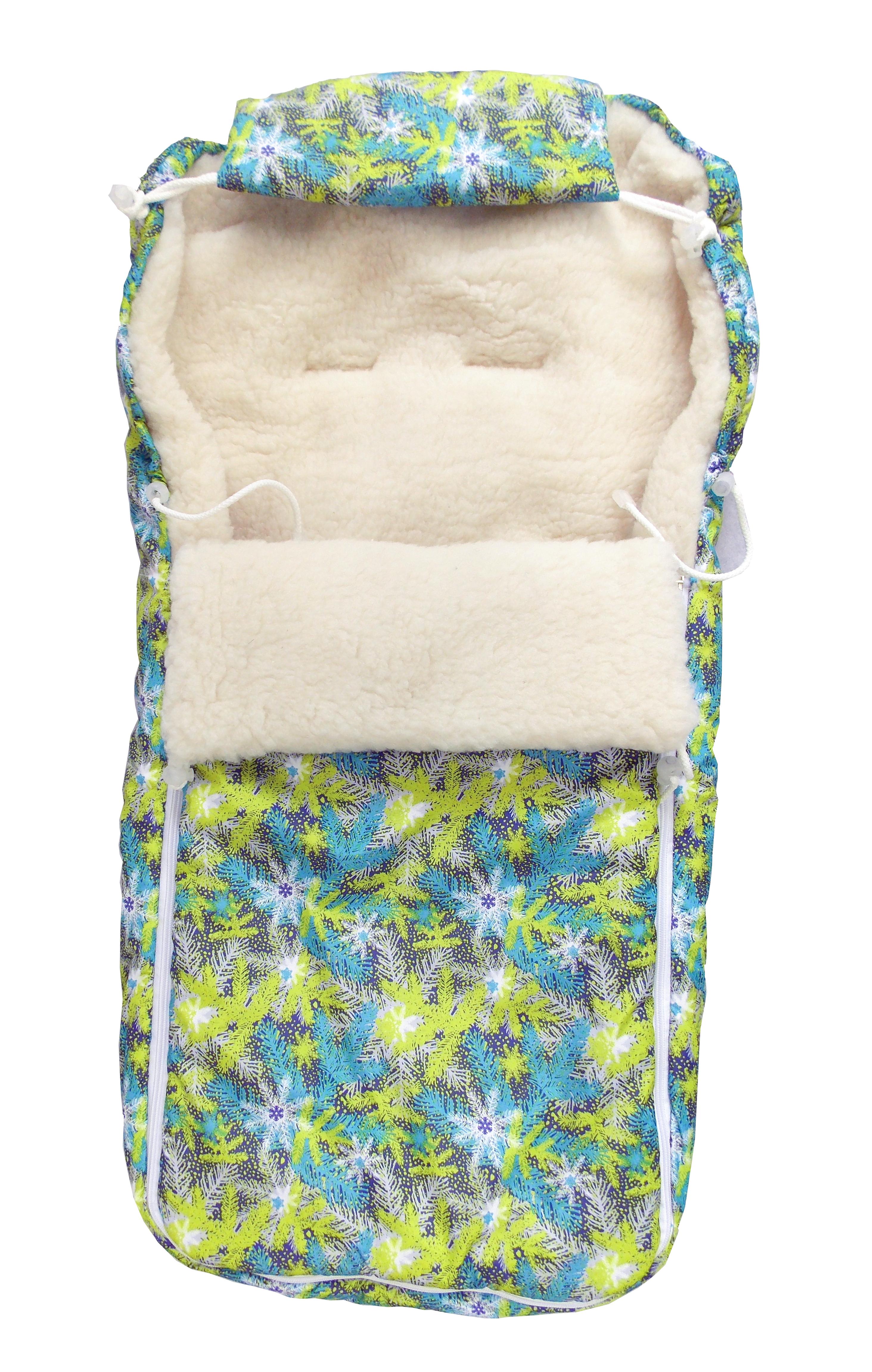 Аксессуары для колясок L'Abeille Снежинки меховой 6234 конверт детский christ меховой конверт tula из овчины sahara