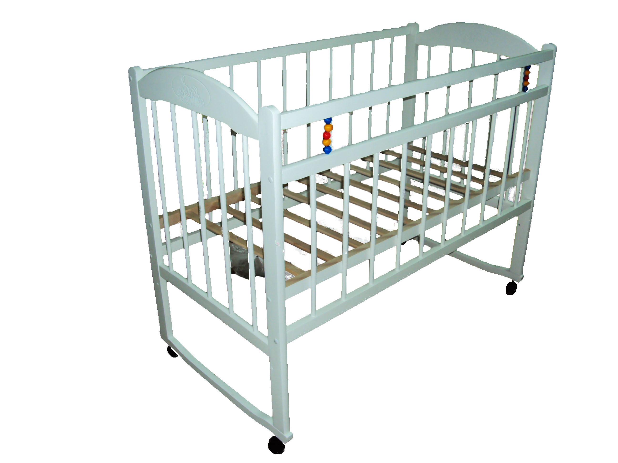 Кроватки ЗАЮШКА Кроватка Уренский леспромхоз «Заюшка» колесо и качалка белый обычная кроватка 120x60 уренская мебельная фабрика заюшка на качалке тёмно коричневая