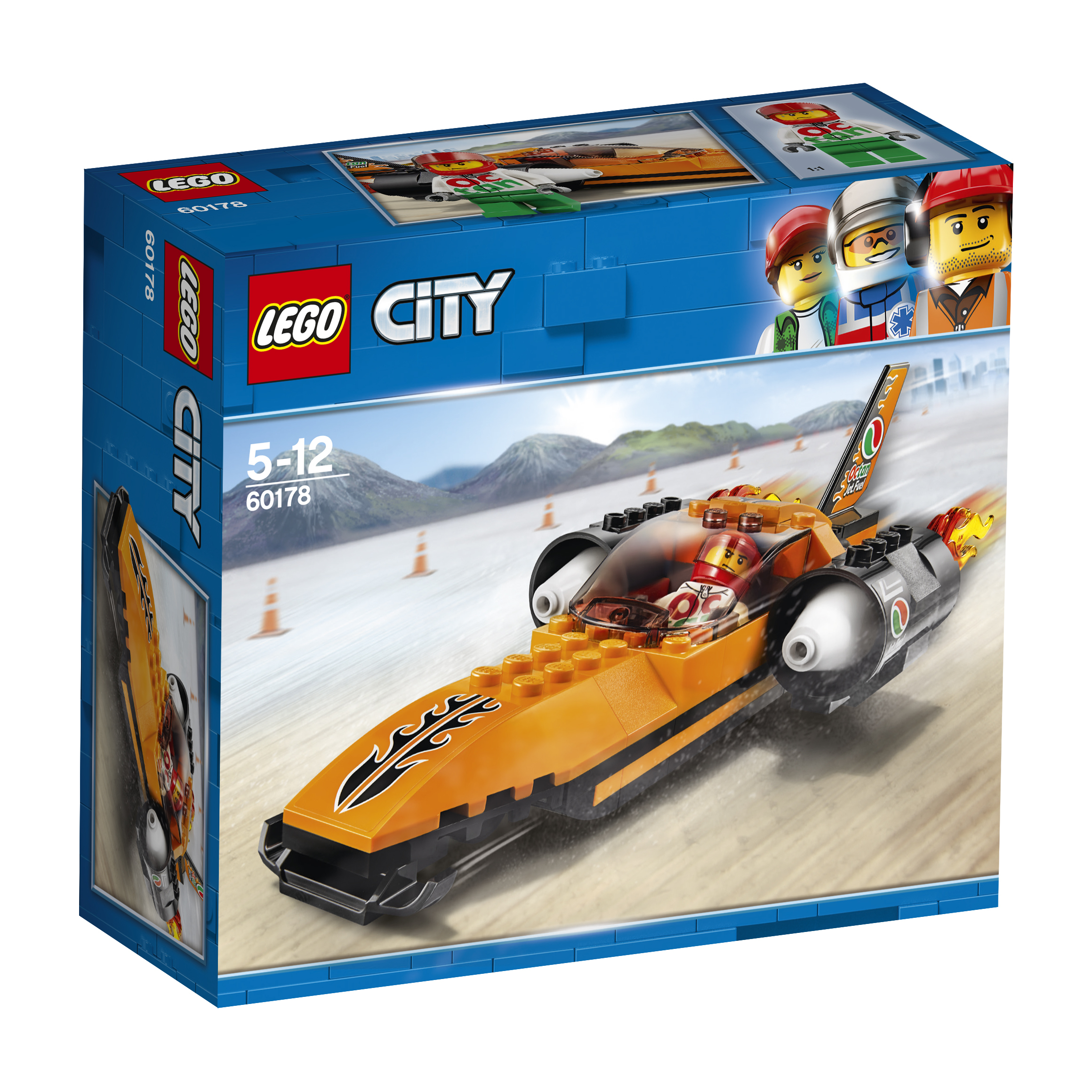 Конструктор LEGO City Great Vehicles 60178 Гоночный автомобиль lego city great vehicles 60180 монстр трак конструктор