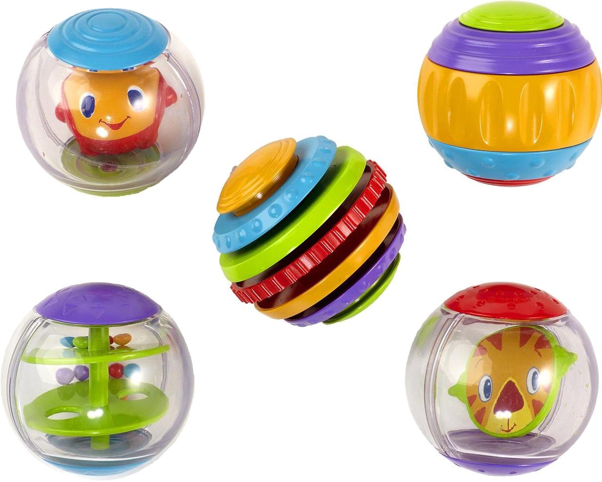 Развивающая игрушка BRIGHT STARTS Забавные шарики развивающая игрушка bright starts море удовольствия тигренок 8814 5