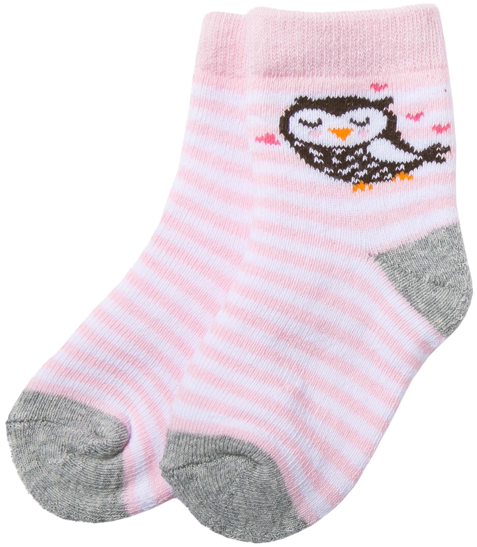 Носки Barkito Носки махровые для девочки Barkito, розовые с рисунком в полоску носки махровые для мальчика snm 1279 голубой charmante