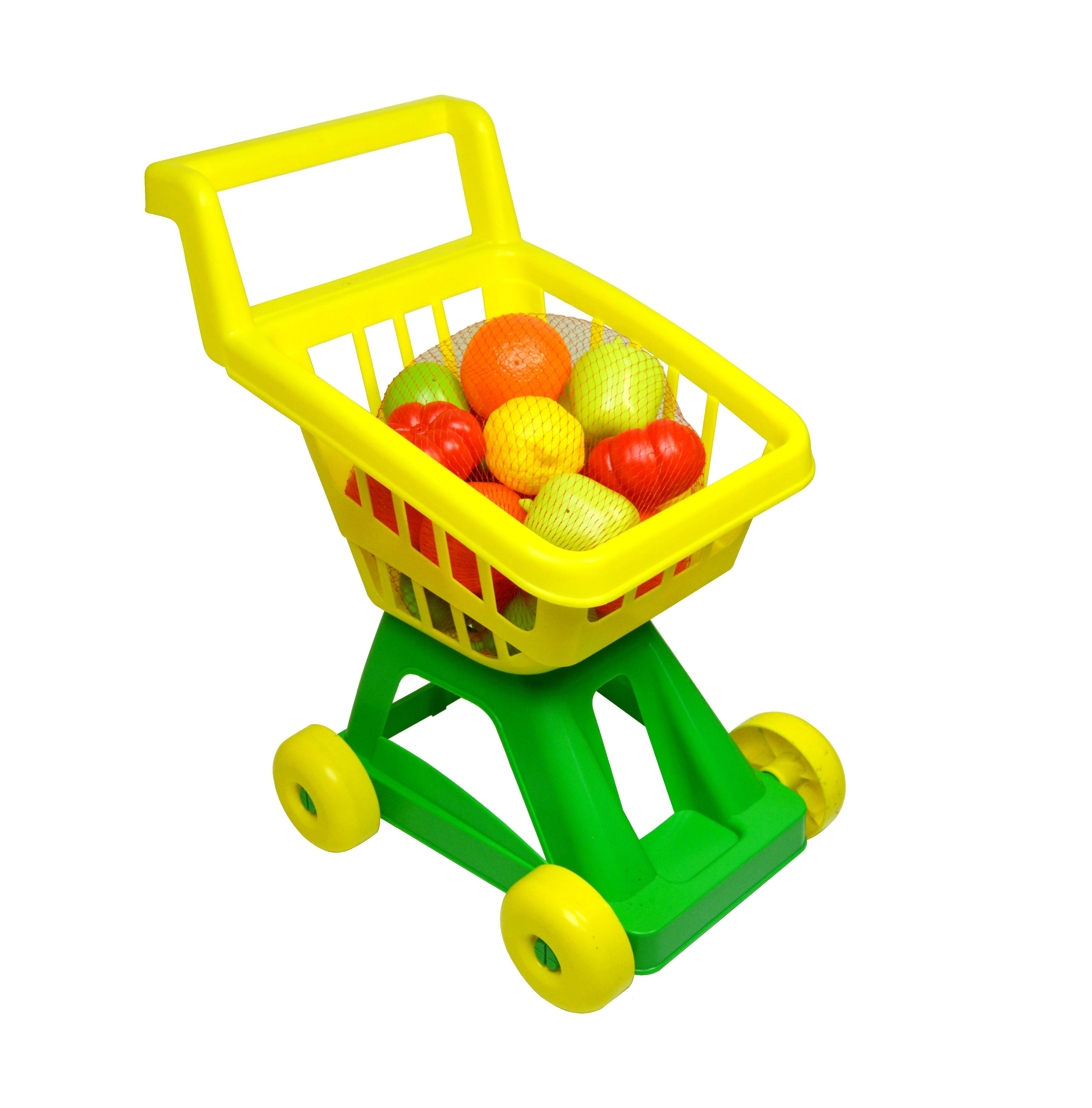 Игровые наборы Профессия Спектр Тележка из супермаркета с овощами и фруктами тележка багажная lm 11с