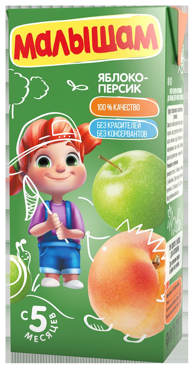 Нектар Прогресс ФрутоНяня Малышам Яблоко и персик с 5 мес. 330 мл соки и нектары фрутоняня малышам нектар фрутоняня малышам яблоко и вишня с 6 мес 200 мл