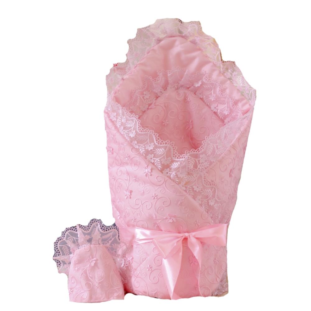Комплекты на выписку Арго Одеяло на выписку для девочки АРГО, «Бабочки», розовое