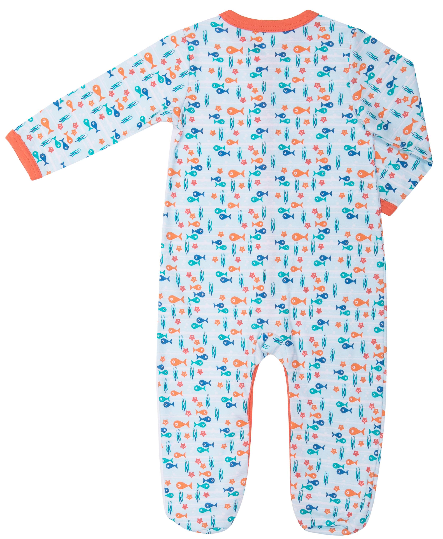 Купить Первые вещи новорожденного, Комбинезон для мальчика Barkito Подводные жители , голубой с рисунком, Беларусь, Новорожденный