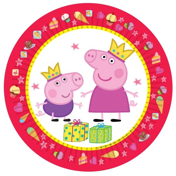 Тарелки Peppa Pig Одноразовые тарелки Пеппа Принцеса 6 шт. тарелки с большим куполом 31cm
