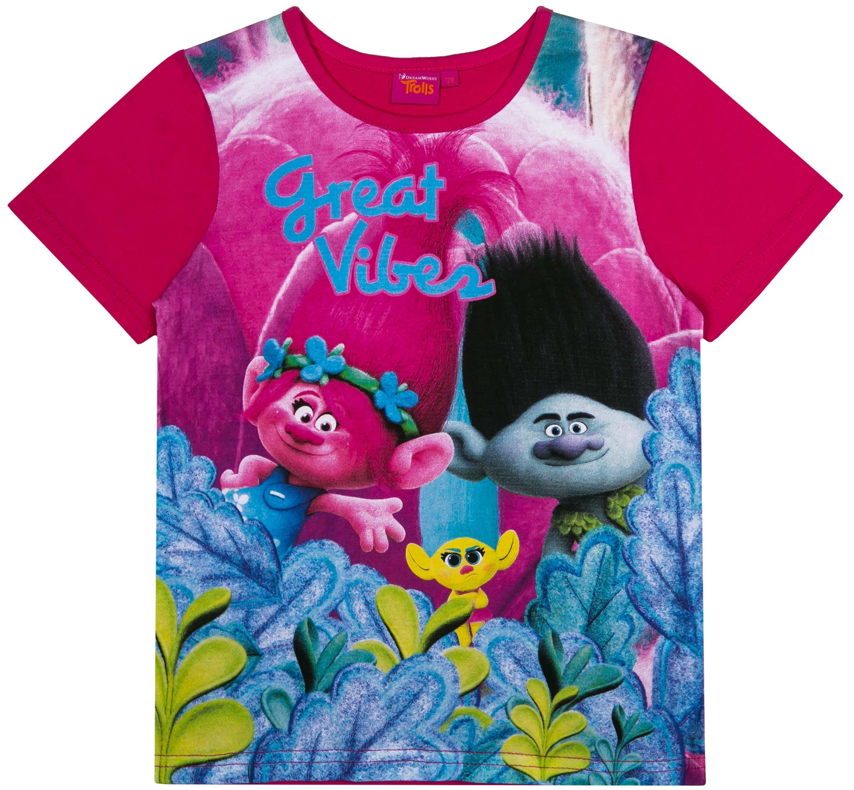 Фото - Футболка с коротким рукавом для девочки Trolls Trolls футболка с коротким рукавом для девочки trolls trsm 27133