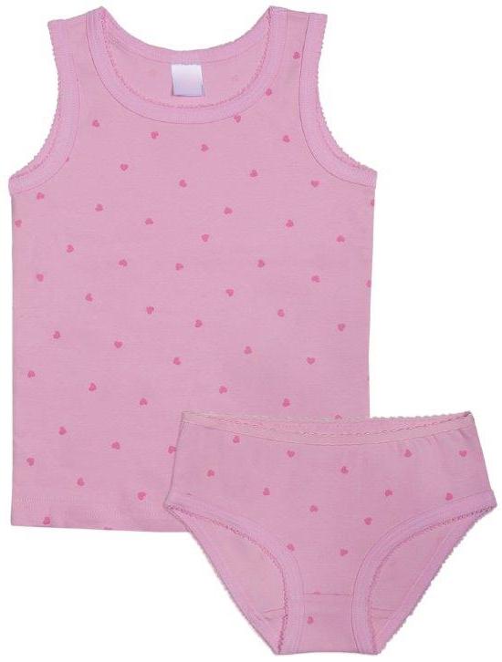 Комплект: трусы и майка Barkito для девочки детское белье lets go комплект для девочки майка трусы 3161