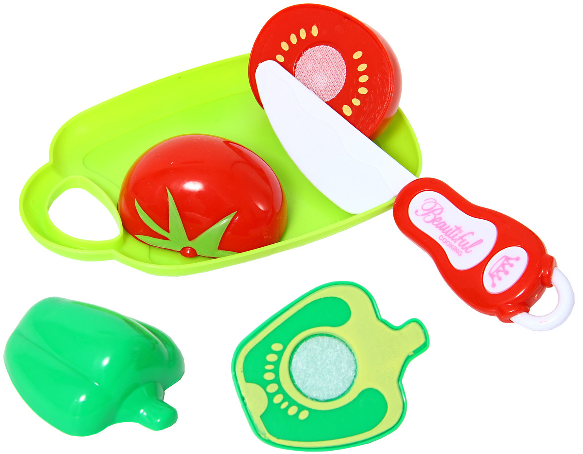 Купить Игровой набор, Овощи для резки, 1шт., Amico 50338, Китай, Мультиколор
