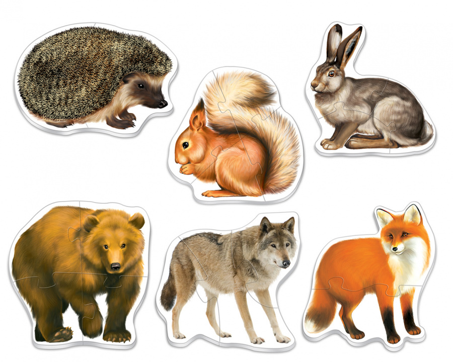 попробует картинки животных лесных для вырезания этой