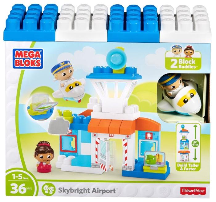 Конструкторы для малышей Mega Bloks Аэропорт конструкторы ecoiffier конструктор аэропорт 87пр 77 47 28см 1 4