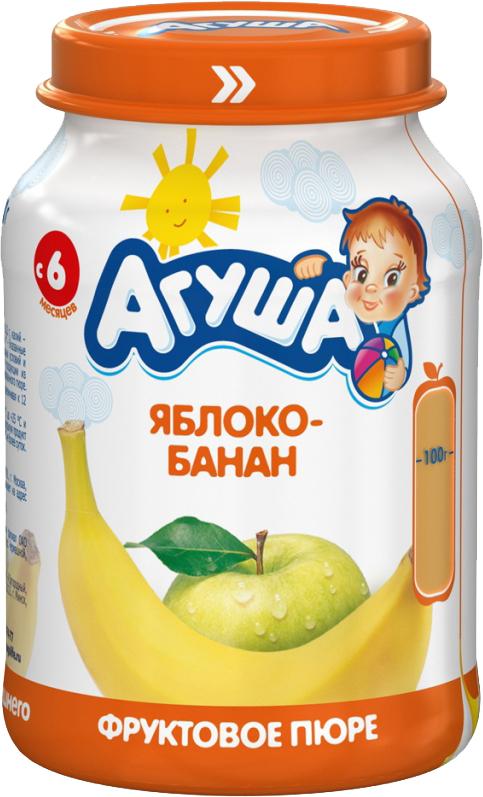 Пюре Агуша Пюре Агуша Яблоко-банан с 6 мес. 200 г агуша компот агуша курага изюм яблоко 0 2 л с 8 мес