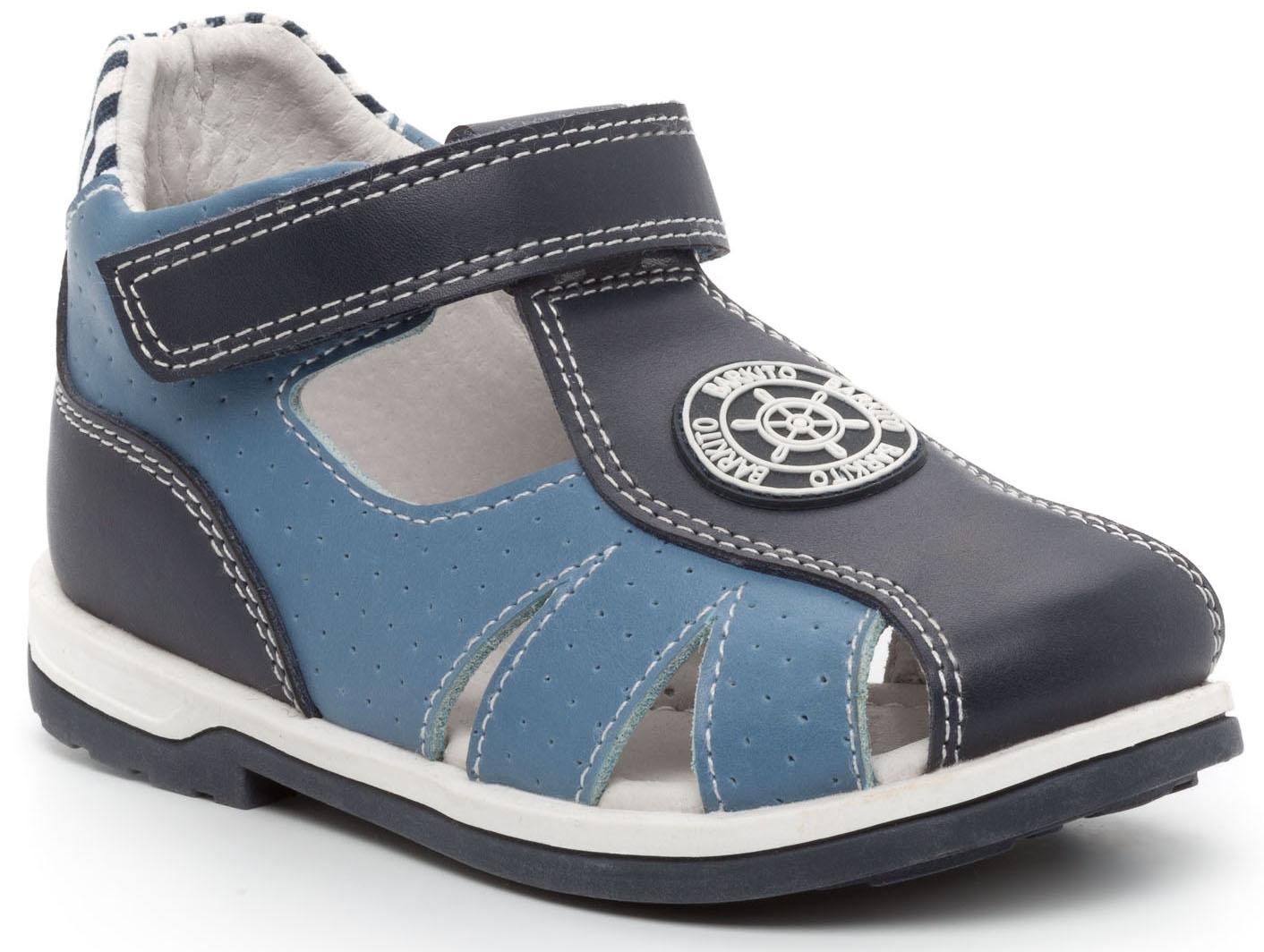 Босоножки Barkito Сандалеты для мальчика Barkito, темно-синие с голубой отделкой elegami elegami сандалии с открытой пяткой темно синие