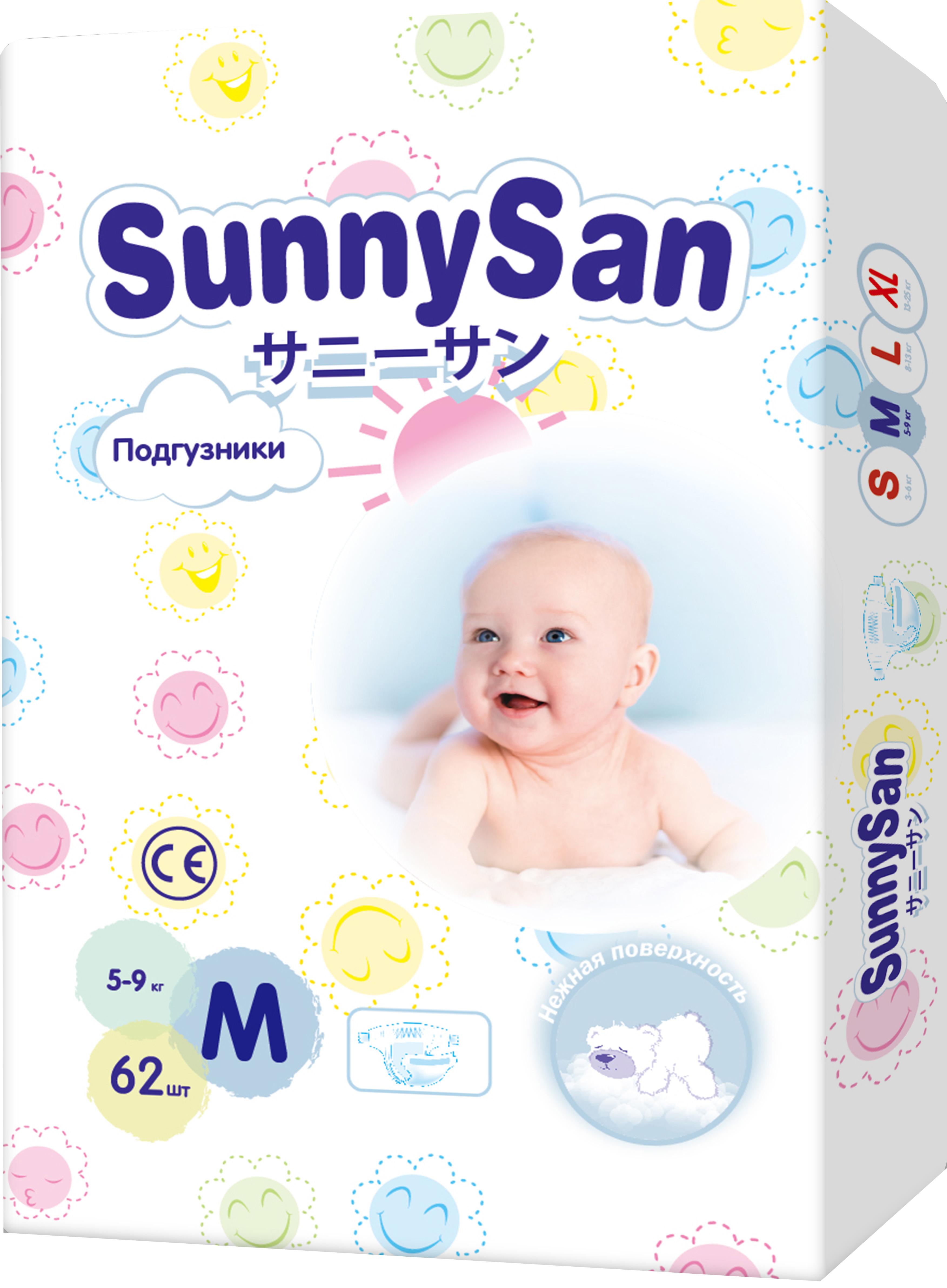 M (5 - 9 кг) 62 шт. SunnySanM5-9-62