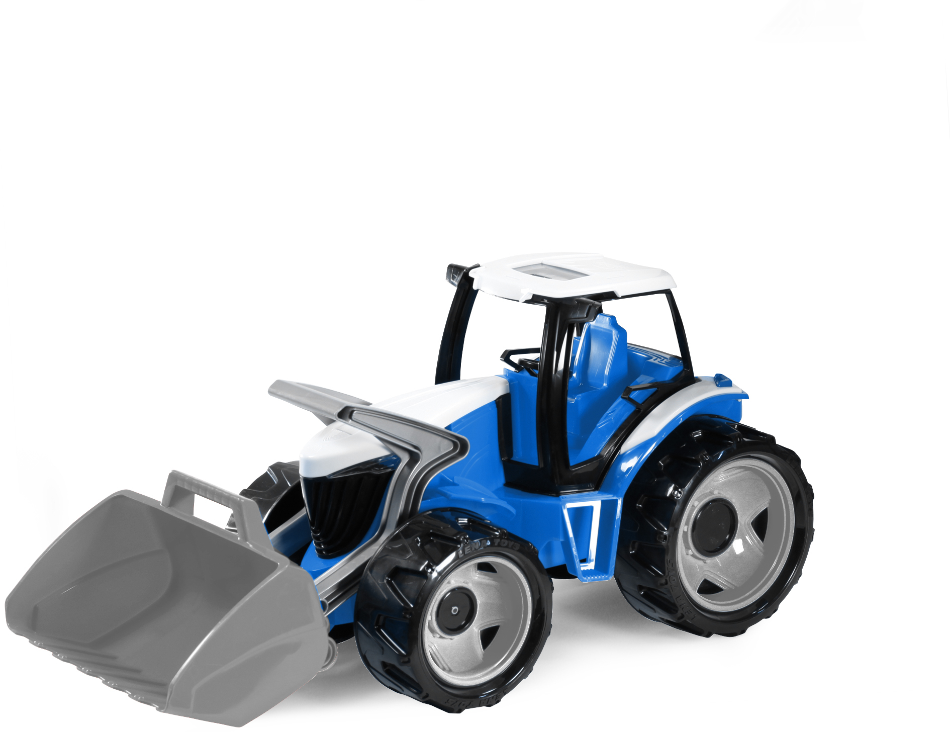 Трактор с грейдером 62 см 02055