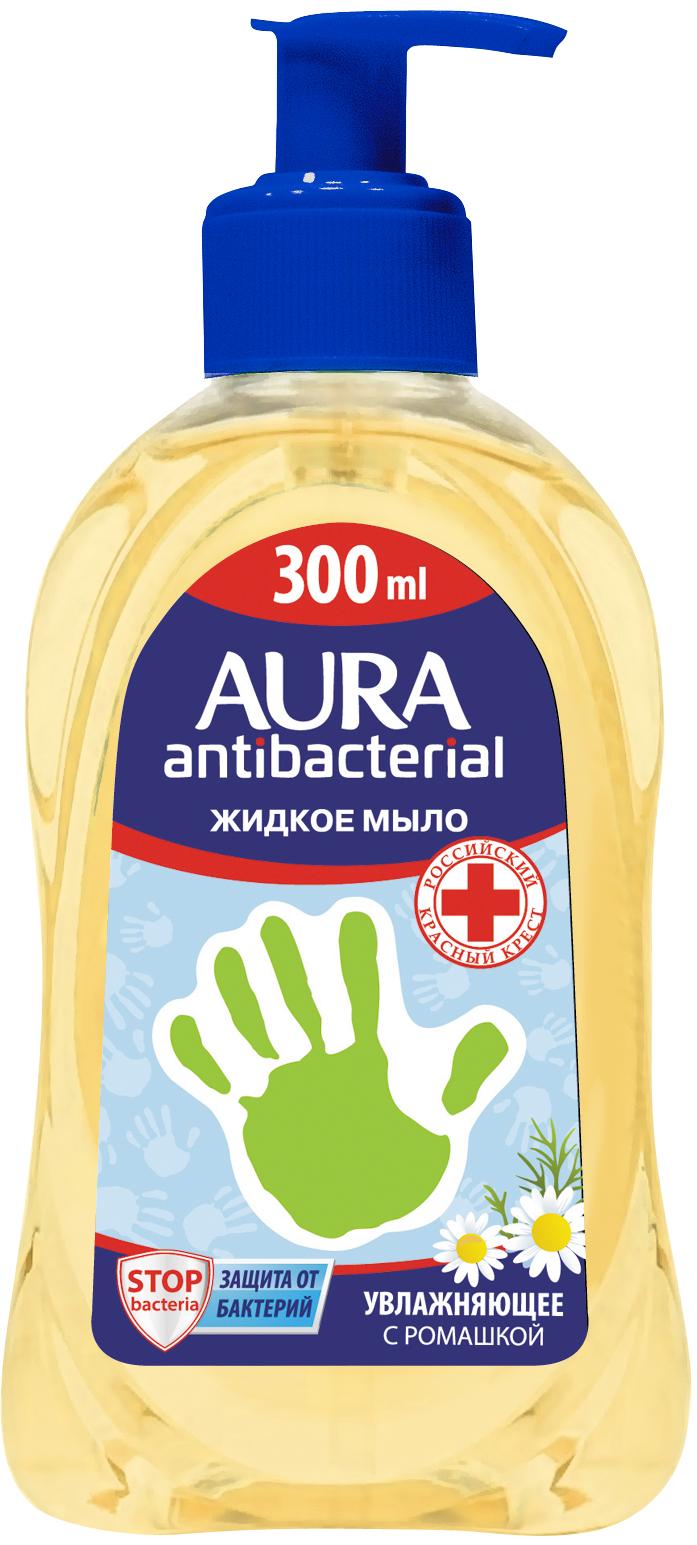 Мыло AURA Жидкое с антибактериальным эффектом Ромашка, 300 м цены