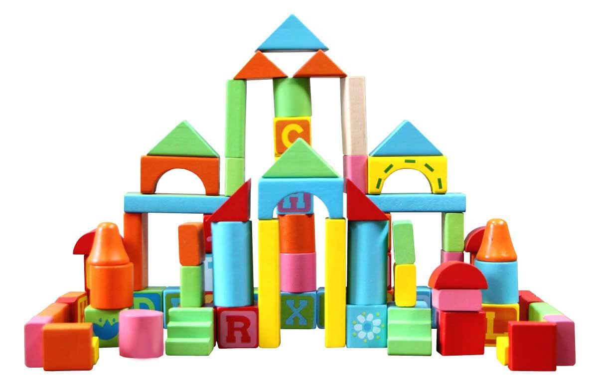 Деревянные игрушки База игрушек Конструктор деревянный База игрушек «Кубики» 82 дет. конструктор lepin creators грузовой поезд маерск 1234 дет 21006