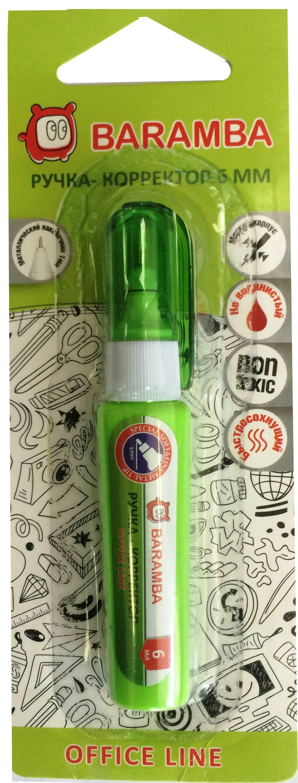 Канцелярия Baramba Ручка-корректор Baramba 6 мл ручки и карандаши baramba карандаши восковые baramba 18 цв с вкладышем раскраской