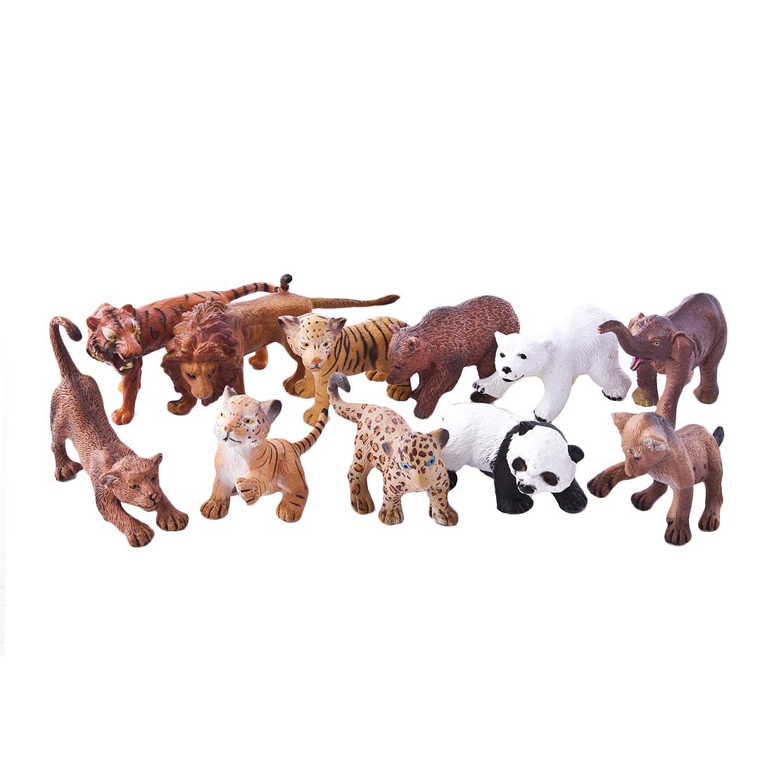Фигурки животных Little Zu Дикие животные trefl классические пазлы для малышей дикие животные 1 от 2 лет