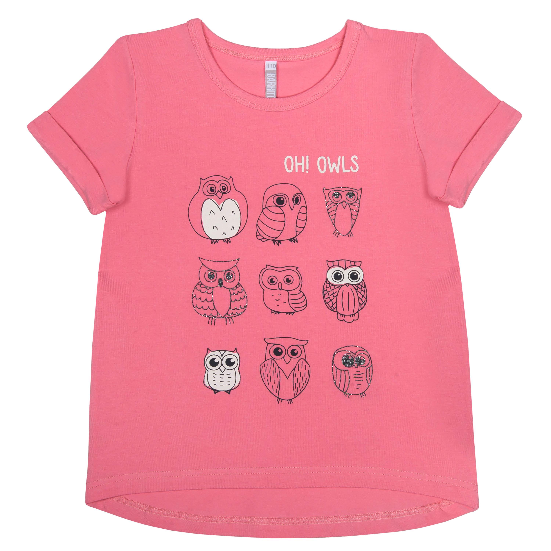 """Футболки Barkito Футболка с коротким рукавом для девочки Barkito """"Северные приключения 1"""", розовая футболка с длинным рукавом для девочки barkito сказочный лес 1 розовая"""
