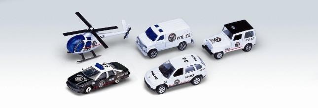Welly Игровой набор Welly «Полицейская команда» из 5 машинок городской транспорт welly набор машинок welly пожарная служба 11 см 3 шт