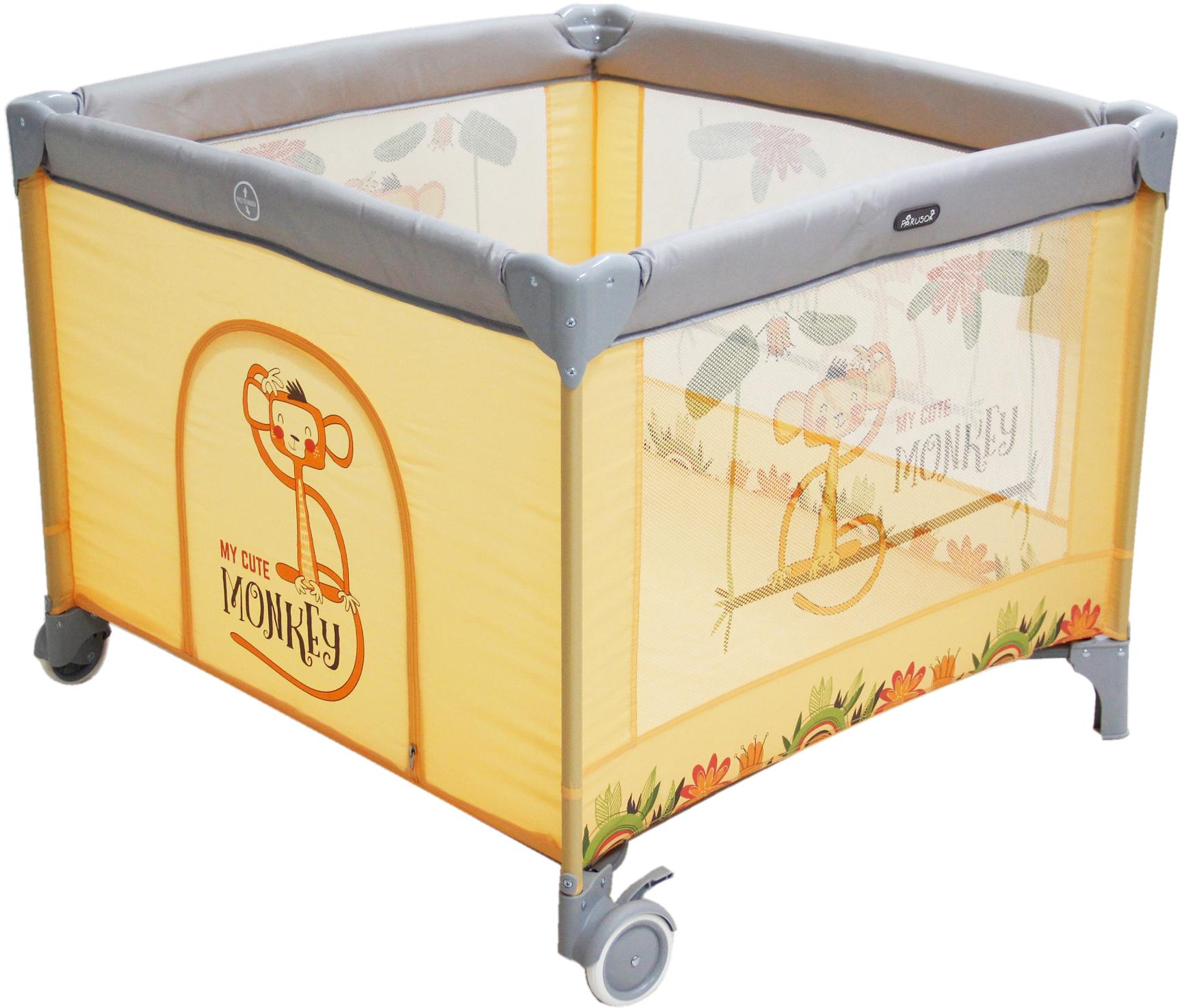 Манежи Parusok KK-600O Квадратный манежи parusok манеж кровать parusok оранжевый