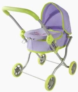 Коляска-люлька для куклы Наша игрушка Бабочки коляска для куклы lokotoys четырехколесная с поддоном красная