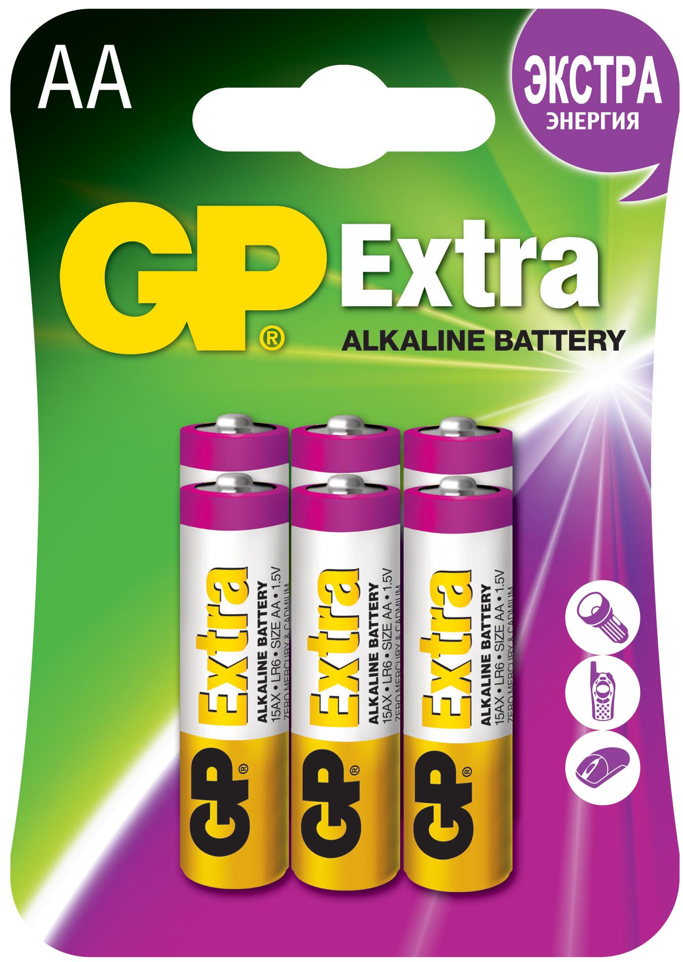 Элементы питания GP 15AU4/2-CR6 Ultra АА 6 шт цены