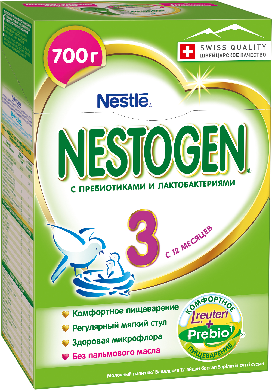 Молочная смесь Nestle Nestogen (Nestlé) 3 (с 12 месяцев) 700 г nestogen 1 смесь молочная с рождения 700 г