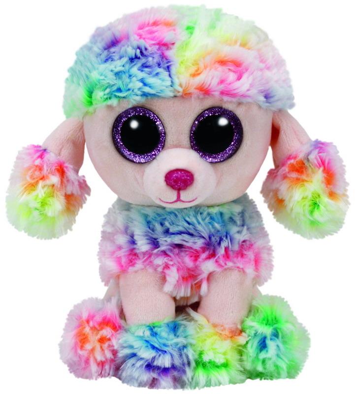 цена на Мягкая игрушка TY Пудель «Rainbow» 15 см