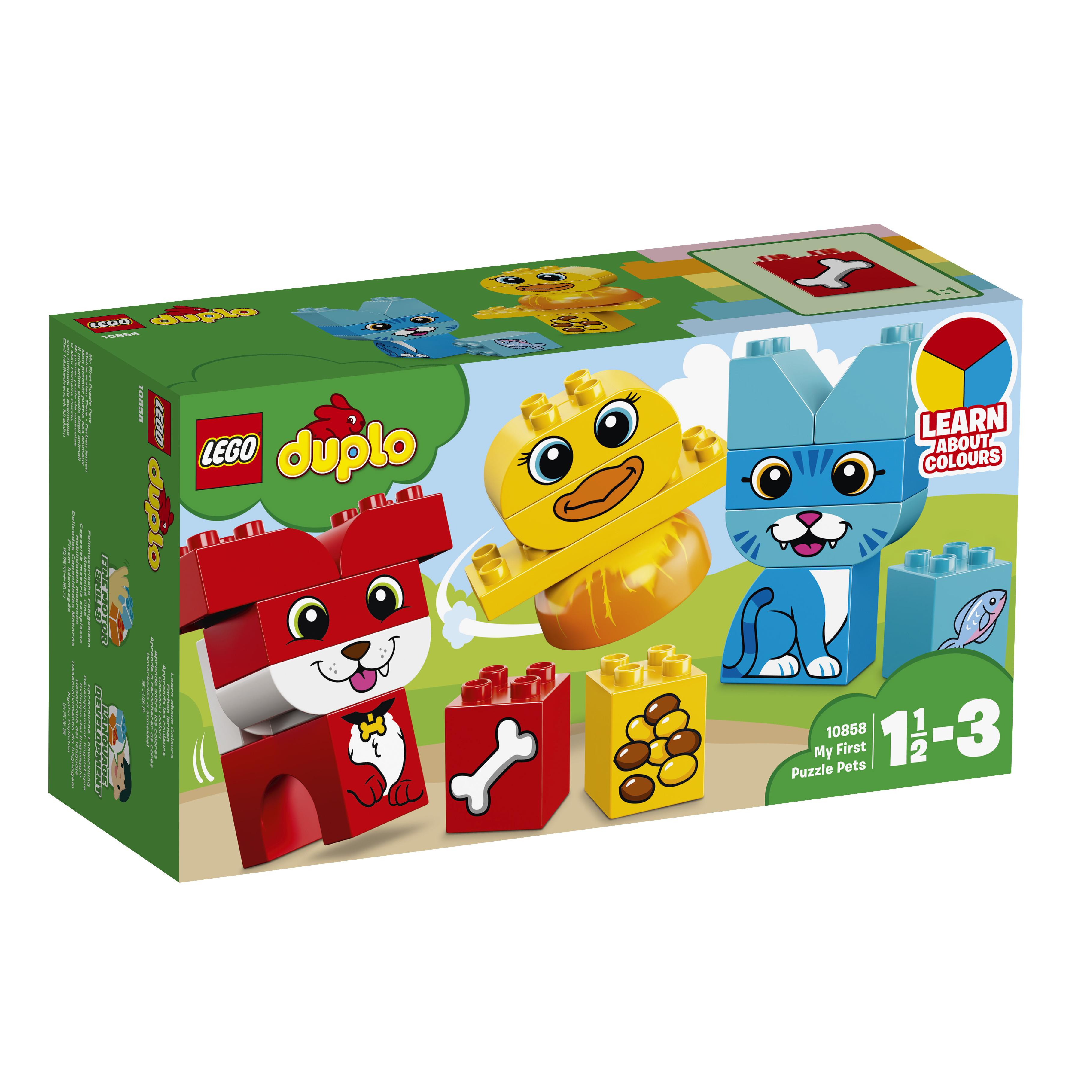 Конструктор LEGO DUPLO My First 10858 Мои первые домашние животные кубики томик домашние животные