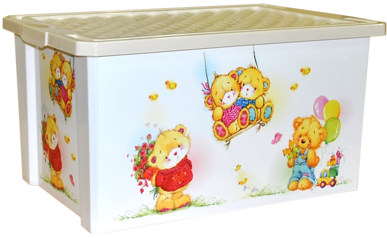 Хранение игрушек Little Angel ящик для хранения игрушек ящики для игрушек альтернатива башпласт контейнер для игрушек феи